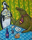 penguin walrus art PRINT poster gift JSCHMETZ food critic folk 8x10 11x14 13x19