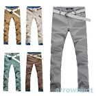 New Mens Boys Slim Fit Skinny Pencil Casual Long Pants Trousers Fashion 5 Colors