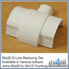 D-Line 50x25 to 30x15 Reducing T for Cable Tidy Covers