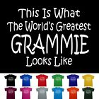 World's Greatest Grammie Mothers Day Birthday Anniversary Gift T-Shirt