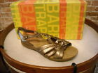 BareTraps Bronze Leather Jacee Braided Ankle Strap Sandal NEW