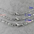 316L Stainless Steel Chain Military Balls Bars Lobster Claw Clasp Match Dog Tag