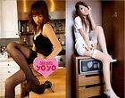 Lady's Shaped Slim Hip PackSocks Fishnet Lace Top Thigh High School Stockings