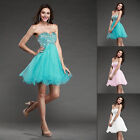 2014 New Stock Blue Short Mini Party Evening dress Prom Gown SZ 6-8-10 custom