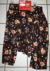 New Mens TAZ Tasmanian Devil Black Valentine Lounge Pants ~Var Szs~