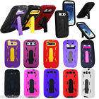 For Samsung Galaxy S3 i9300 Hard Cover Impact Silicone Kickstand Case Accessory