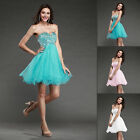 Short Mini Sleeveless Cocktail Evening Prom Dresses Ball Gown Stock Size 0 2 4 6