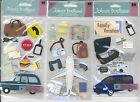 U CHOOSE  Jolee's ROAD TRIP FAMILY VACATION PLANE TRIP 3D Stickers travel