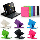 Swivel Cover Rotary Case Folio Bluetooth Keyboard w / Stylus for iPad 4 / 3 / 2