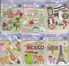 U CHOOSE  K&Company ITALY MEXICO NYC PARIS HAWAII HULA GRAND CANYON 3D Stickers