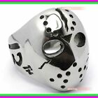 Mens Boys Friday 13th Jason Mask 316L Stainless Steel Polished Ring