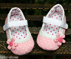 Pink Mary Jane Toddler Baby Girl Polka Dot Walking Shoes Newborn to 18 Months