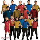 Star Trek Movie Costumes ~ Captain Kirk Spock Scotty Uhura Mens Ladies Childrens