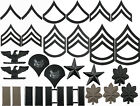 Black Subdued Military Ranking Insignia Sets Pin On