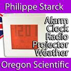 PHILIPPE STARCK WEATHER STATION ALARM CLOCK PROJECTION RADIO RED MEDIUM