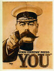 """LORD KITCHENER """"Your Country Needs You"""" Vintage Propaganda Poster A1A2A3A4Sizes"""