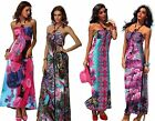 FLORAL PRINT BANDEAU MAXI PARTY CLUB WEAR HOLIDAY DRESSES SIZE 10 12 14 16 18