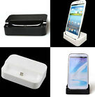 Black/White USB Charging Docks Stand Charger For Samsung Galaxy S4 i9500
