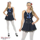 FANCY DRESS COSTUME # ADULT LADIES NAUTICAL SAILOR WOMAN DRESS SIZE 8-18