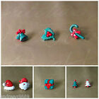 CHRISTMAS BUTTONS SANTA HEAD HAT CHRISTMAS BELLS HOLLY TREES PRESENT CANES