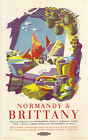 NORMANDY & BRITTANY Vintage British Railways Travel Poster A1,A2,A3,A4 Sizes