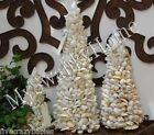 White SEASHELL TOPIARY Beach Island NEIMAN MARCUS Tree Centerpiece Coastal
