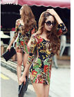 Sexy Women's Mini Dress Long Sleeve Tops T-shirt shirt V-neck slim Blouse M0630