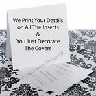 75 Personalised Pocketfold Wedding Invitations -We Print Your Details on Inserts