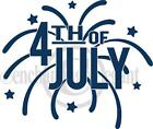 4th Of July Independence Day Vinyl Decal Wall Art Sticker Words Lettering Decor