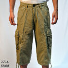 "BN: MENS sizes:30-44 MILITARY-STYLE SOLID 19"" CARGO CAPRI  SHORTS #27/28CA"