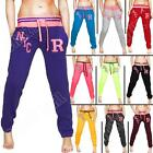 New Womens Ladies R NYC Fleece Tracksuit Jogging Bottoms Joggers Size 8 10 12 14