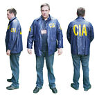 "US SPY Agency ""CIA"" Agent Windbreaker Raincoat JACKET a Lot of Cool Fancy Dress"