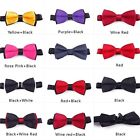 Loveliness New Mens Plain Bowtie Polyester Pre Tied Wedding Bow Tie Elegant
