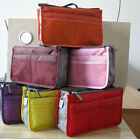 Women Lady New Fashion Multi-Function Handbag Storage Makeup Bag Insert Pocket