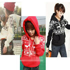 Fashion Lady Women Deer Fawn Hooded Sweater Winter Warm Outwear Coat Wool Inside