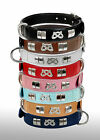 REAL LEATHER STAFF DESIGNER SMALL COLLAR WITH KNOT FITTED WITH CHROME,  8 COLORS