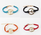 Choose ColorsFashion Occident Retro Party Peace sign Personalized Alloy Bracelet