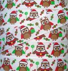 7/8 CHRISTMAS CANDY HOOTS LOLLIPOPS & PRESENTS GROSGRAIN RIBBON OWL 4 HAIRBOW