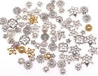 New 50g(about 150pcs) mixed silver/golden Flower Bead Caps For Jewelry