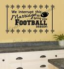 Football Sports Vinyl Decal Wall Sticker Words Letter Den Living Room Home Decor