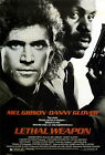 LETHAL WEAPON (MEL GIBSON AND DANNY GLOVER) MINI FILM POSTER PRINT 01