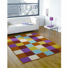 Retro Funky Mania Flair Rugs Modern Luxury Multi Childrens Soft Oblong Rug