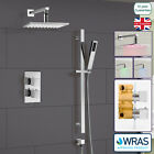 BATHROOM CONCEALED THERMOSTATIC SHOWER MIXER HYDRO POWER LED HEAD HANDHELD KIT