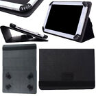 Black Flip Leather Wallet Folio Smart Case Stand Cover For 7 8 Tablets