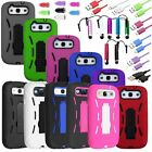 Hybrid Heavy Duty Hard/Soft Cover Case Stand for Samsung Galaxy S3 i9300 Phone