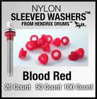 Nylon Sleeve RED Tension Rod Washers, snare drum, **Eliminate detuning**