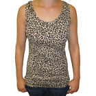 Womens Leopard Animal Print Tank Vest Top NEW UK 10-18