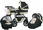 MAYLO pram pushchair 3in1 car seat  included ALUMINUM CHASSIS