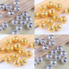 Gold & Silver Plated Metal Round Filigree Spacers Beads 4mm 6mm 8mm 10mm U Pick