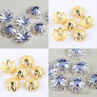 200pcs Silver & Gold Plated Bead Caps Jewellery Making Crafts Beading 12x5mm HOT